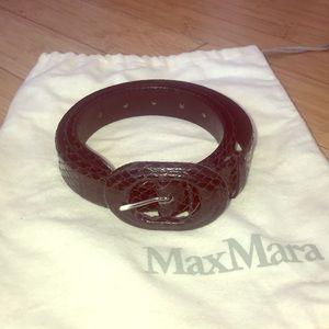 MaxMara Snakeskin Leather Belt Made in Italy Large